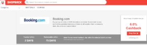 Booking.com On Shopback